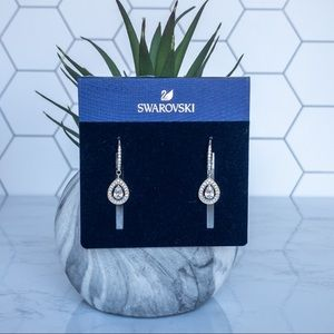 Swarovski Pear Shaped Pendant Drop Earrings